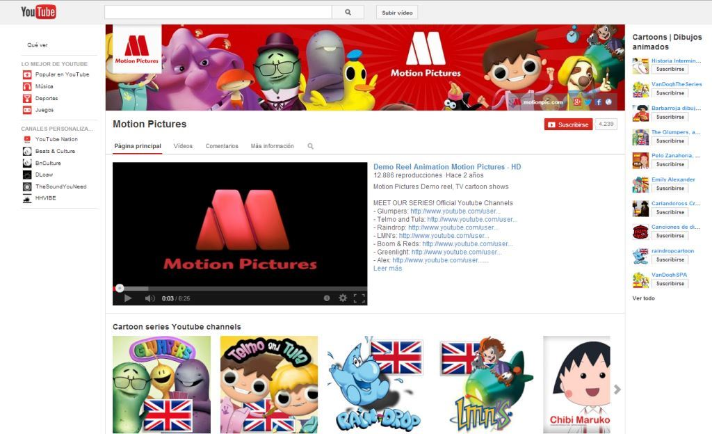 Motion Pictures YouTube Channel
