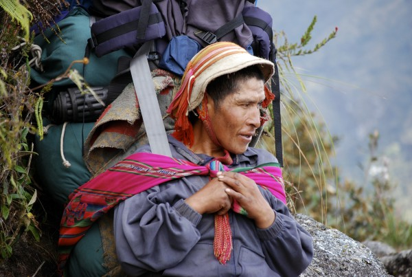 Gumercindo porter, documentary porters of the inca trail, documental porteadores del camino inca