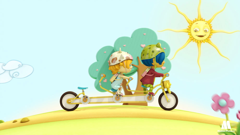 Niños tandem, Van Dogh, serie dibujos para televisión - Animated TV shows for kids