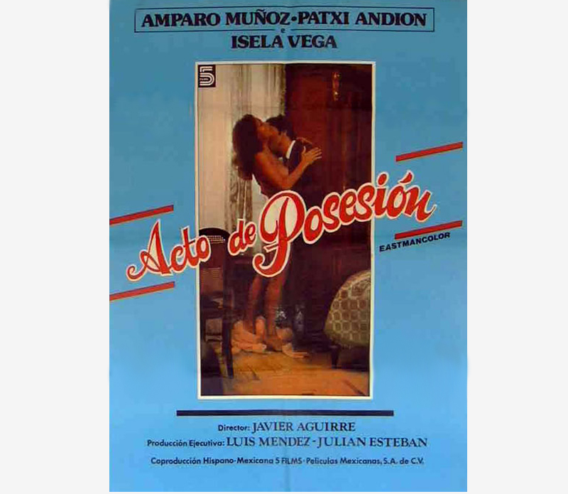 Acto de posesión, pelicula, poster cartel - TV movie erotic, films television