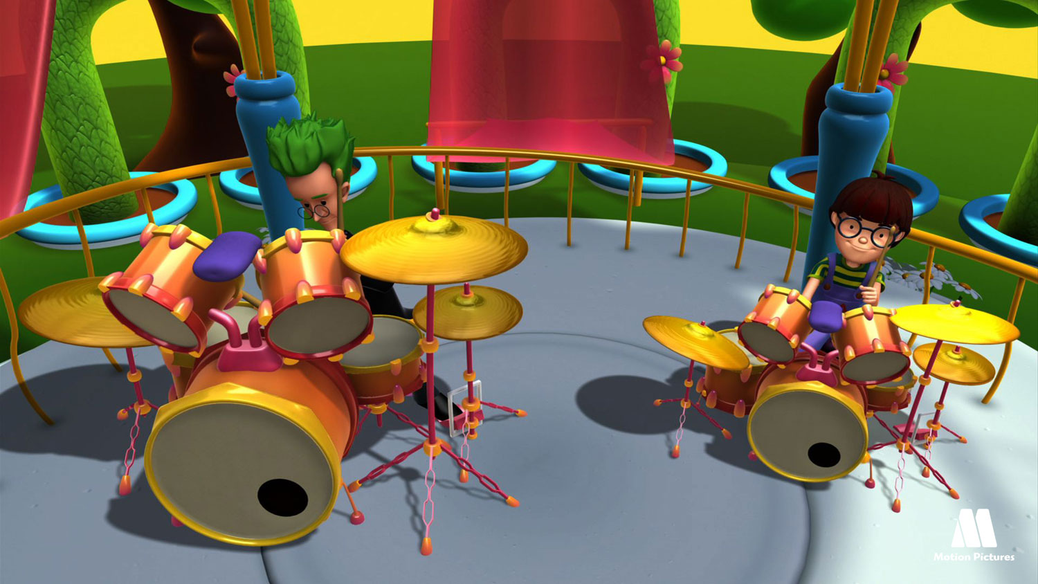 La bateria, musica - Alex, Serie animacion educativa, education cartoon series