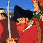 Barba Roja luchando, Barbarroja, serie dibujos piratas, animation pirates TV series