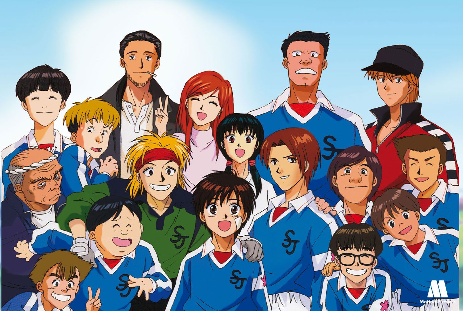 equipo, Dream Team, dibujos animados futbol, soccer anime japanese series