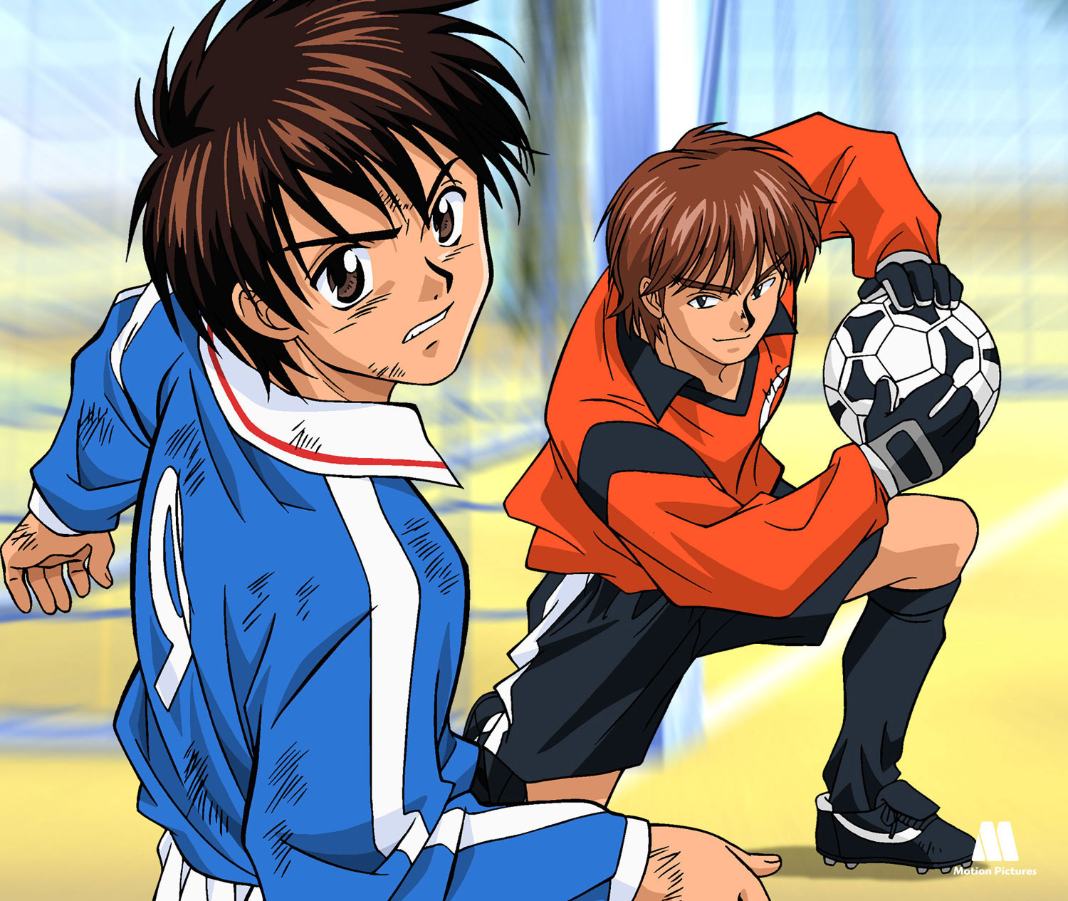 portero para, Dream Team, dibujos animados futbol, soccer anime japanese series