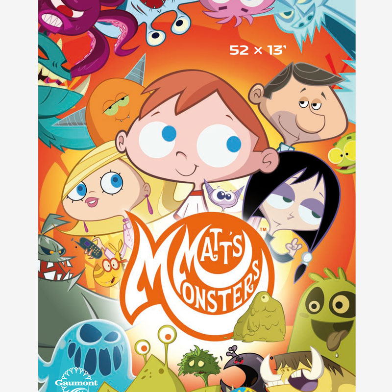 flyer Matt's Monsters, serie dibujos de monstruos, animation show for children
