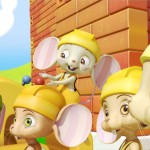 Todos los ratones, mice builders, dibujos animados infantiles preescolar, educational guessing animation series