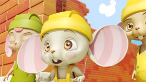 Ratón sorprendido, - Mice builders, dibujos animados infantiles preescolar, educational guessing animation series