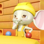 Raton divertido- Mice builders, dibujos animados infantiles preescolar, educational guessing animation series