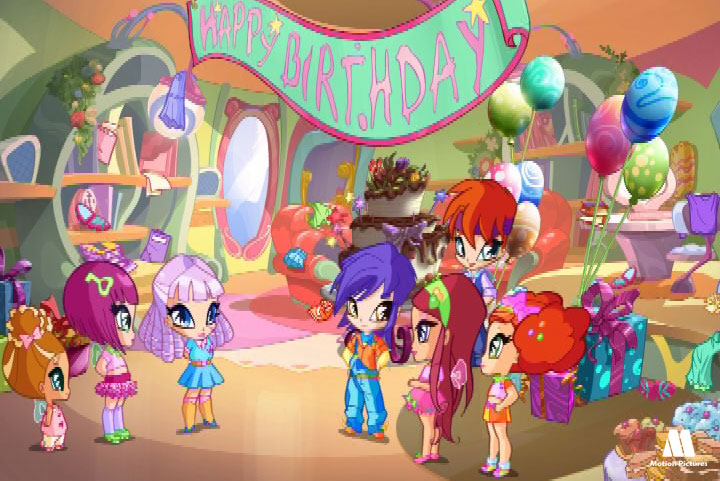 feliz cumpleaños, Pop Pixie serie dibujos animados, animated series for TV girls