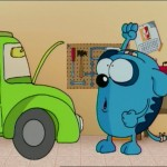 coche estropeado, crashed car - Roncho, dibujos divertidos chistosos de un perro, funny faill dog cartoon show