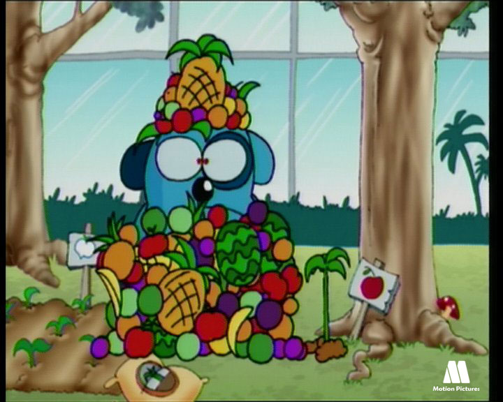 muchas frutas, so much fruits - Roncho, dibujos divertidos chistosos de un perro, funny faill dog cartoon show