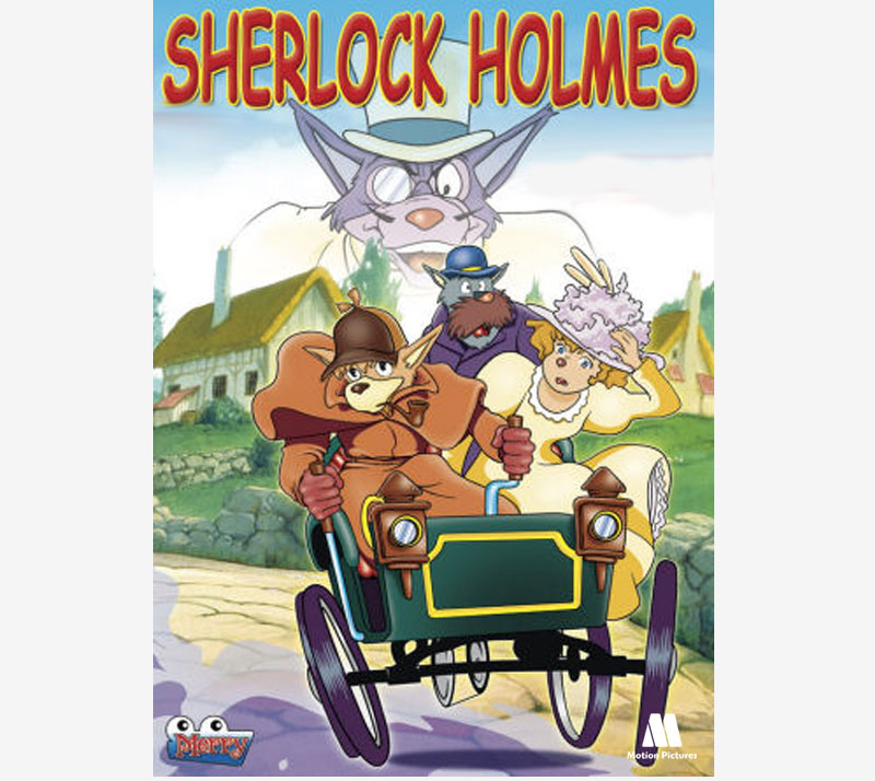 Portada Sherlock holmes serie dibujos animados, Cartoon TV series animation