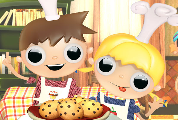Telmo and Tula cooks, cocineros- animated tv show kids recipes, divertidas recetas cocinar con niños