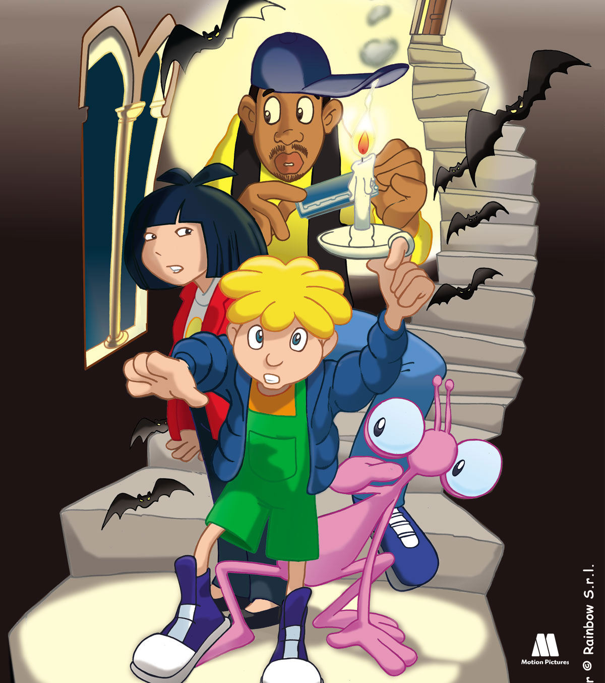 Castillo tenebroso, Tommy oscar, series animación para TV, kids animation Show aliens