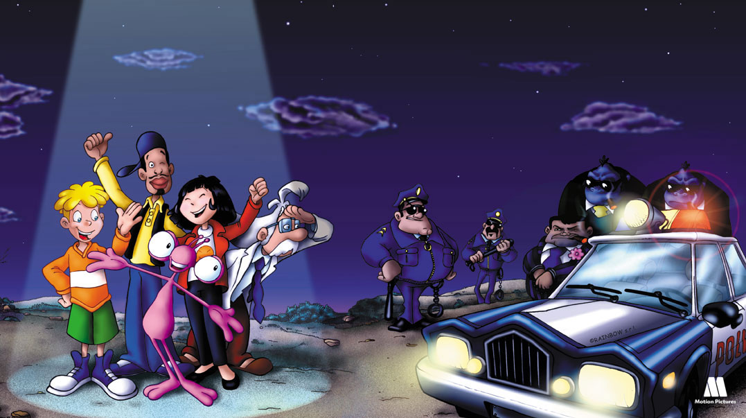con la `policia, Tommy oscar, series animación para TV, kids animation Show aliens