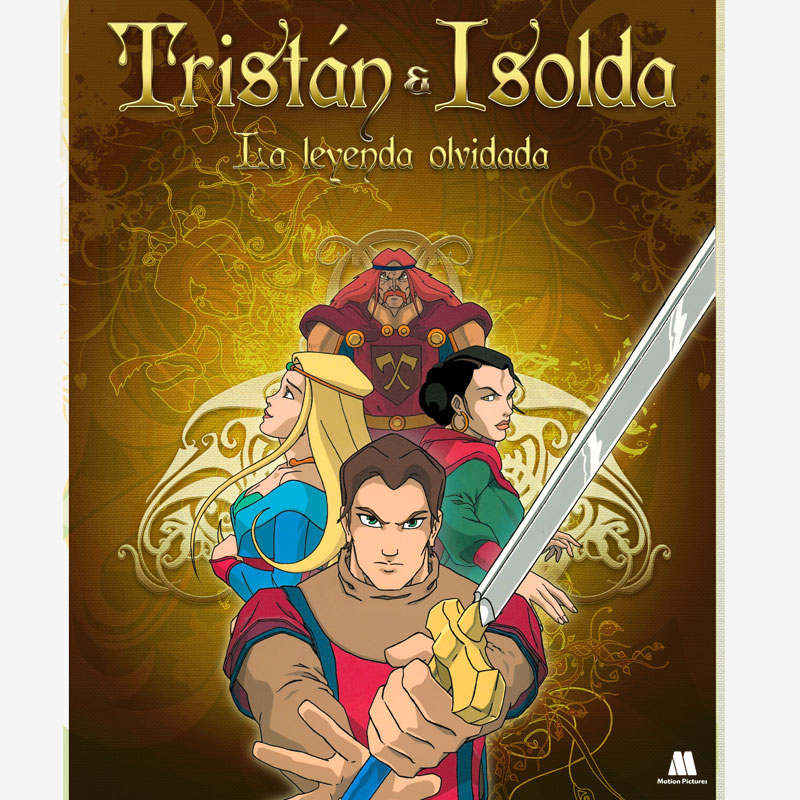 portada, cover. Serie Tristan e Isolda, dibujos animados, animation cartoons