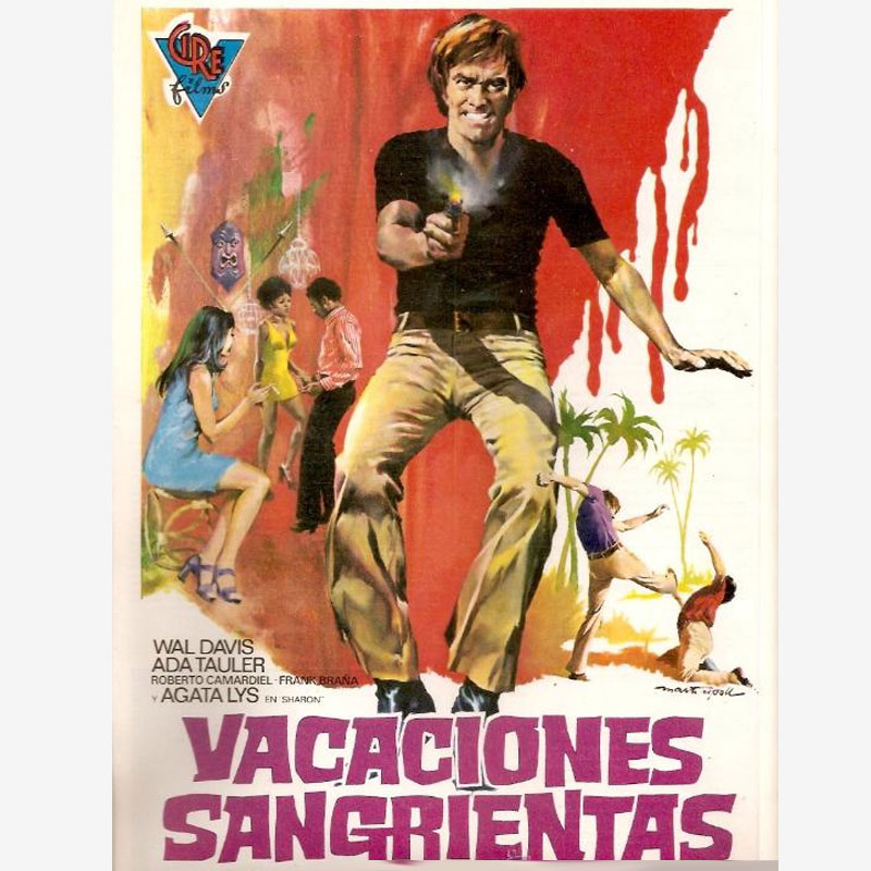 Poster Vacaciones Sangrienas, pelicula policiaca, police movies featured films